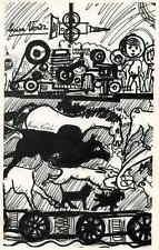 MENSCH & TIER am FLIEßBAND - Lucien VERDI 1965 -  Handsigniert auf ARCHES-BÜTTEN