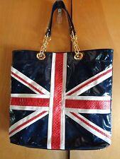 Twiggy London Tote Purse and Matching Make Up Bag ~ Union Jack