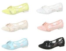 Markenlose Damenschuhe im Ballerinas-Stil aus Synthetik für die Freizeit