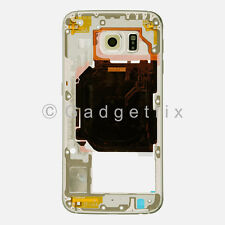 US OEM Gold Samsung Galaxy S6 G920V G920P Back Housing Frame Bezel + Camera Lens