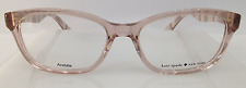 Kate Spade Brylie Crystal Pink QGX Plastic Eyeglasses Frame Authentic 50-16-135