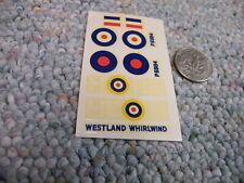 Airfix decals 1/72 Westland Whirlwind    A65