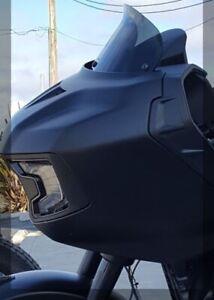 "Wind Vest 8"" Gun Smoke Replacement Windshield Indian Challenger 20"