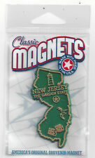 NEW JERSEY  THE GARDEN  STATE   OUTLINE MAP MAGNET in Souvenir Bag, NEW