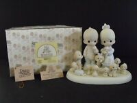 """PRECIOUS MOMENTS """"THE GOOD LORD HAS BLESSED US TENFOLD"""" - #114022 - NEW IN BOX"""