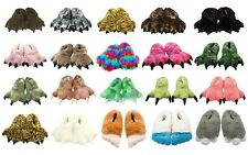 Wishpets Furry Animal Slippers for Kids/Youth and Adults - Size Large