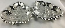 Sterling Craft Nickel Plated Steel Serving Trays Set of 2 New