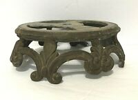 VTG/Antique Art Deco Ornate bronze multi-Footed Table Lamp Base Parts or Restore