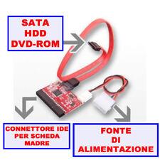 ADATTATORE HARD CAVI SATA IDE PC DISK COMPUTER CAVO DRIVE SCHEDA MADRE HDD sk