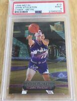 John Stockton 1996 Cyber Metal Fleer Metal Card #19 Psa Graded 9 Utah Jazz