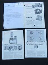 Lot of 3 Catalog Brochures + Letter 1967 Vacuum Industries Equipment