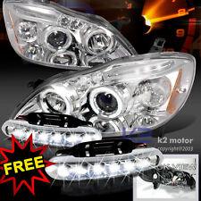 2003-2008 Corolla Halo Projector Headlights Chrome+LED Bumper Fog Lamps