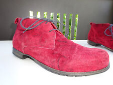 THINK Damen Schuhe Stiefeletten Wildleder Bordo Zebra Germany Gr.37 TOP