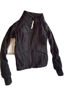 LuluLemon Athletica Full Zip Up Jacket  10 Black Flaws Read Below