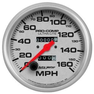 "Auto Meter 4495 5"" Ultra-Lite Mechanical Speedometer 0-160 MPH NEW"