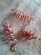 set of 3 Copper Dreadloc jewelry, rasta beads,Loc jewelry, Dread beads,boho bead