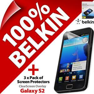 3 x Belkin ClearScreen Screen Protector Scratch Guard Film for Galaxy S2 SII