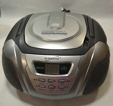 Portable Compact Disc CD Player Radio AM FM Boombox Supersonic Working Vintage