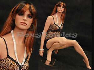 Female Fiberglass Mannequin elegant squatting pose Dress Form Display #MD-FR7