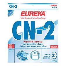 Eureka CN-2 Vacuum bags (3pk) Part #61990A *Fits 6830 PowerTeam Canister Vacuums