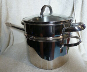 Meyer Professional Pan with Steaming level 18,10 Stainless Steel 3.8l