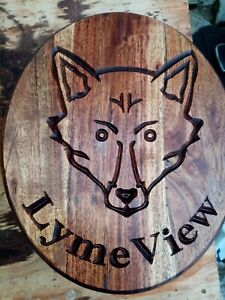 Bespoke Wooden House Number Signs, swans, foxes, bees and so much more