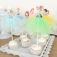 Cupcake Topper Handmade Princess Skirt Decoration for Cake Birthday Party