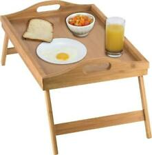 Bamboo Breakfast Bed Tray Table with Folding Legs