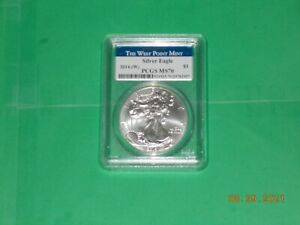 2014 W American Silver Eagle PCGS MS70 Struck at West Point PERFECT