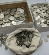 1 One Ounce of 90% Silver Coins - US Mixed Coin Lot - 10, 25, 50 cent pieces