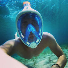 Tribord Subea Blue M/L Easybreath Full Face Snorkeling Mask Anti-Fog Snorkel New