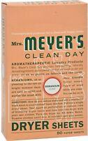 Mrs Meyers Clean Day Dryer Sheets, Geranium 80 ea