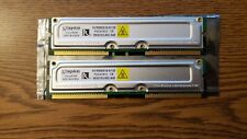 Kingston ValueRAM 128 MB, 800 MHz RDRAM Memory RIMM (KVR800X16/128) SET OF 2