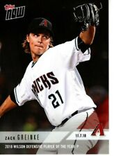 ZACK GREINKE 2018 TOPPS NOW OS21 2018 DEFENSIVE PLAYER OF YEAR P  LOW PR = 150