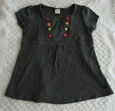 Gymboree 8 Girls Shirt Gray Buttons Fall Back to School Short Sleeve