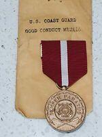 Vintage US Coast Guard Good Conduct Medal & Ribbon