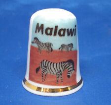 Birchcroft China Thimble - Travel Poster Series - Malawi - Free Dome Gift Box
