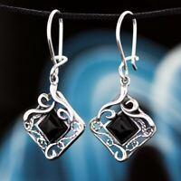 Onyx Silber 925 Ohrringe Damen Schmuck Sterlingsilber H208