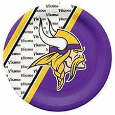 """Disposable 10"""" Round Paper Plate Nfl Vikings Print for Tailgating & Party 20pcs"""