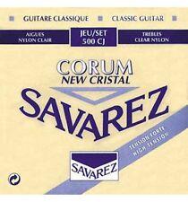 Savarez 500CJ Cristal Corum bleu Tirant fort - Jeu de cordes guitare classique