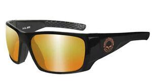 Harley-Davidson Men's Wiley X Keys Orange Mirror Lens Sunglasses HAKYS14