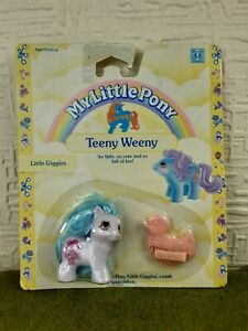 Vintage My Little Pony MLP G1 Teeny Weeny 'LITTLE GIGGLES' - Sealed On Card