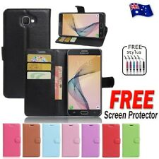 Wallet Leather Flip PU Case Cover For Samsung Galaxy J5 Prime + Free Protector