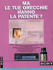 AUTO998-PUBBLICITA'/ADVERTISING-1998- SONY DIGITAL CAR HI-FI