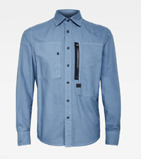 G-Star Raw Men's Delft Blue Powel Slim Fit Button Front Shirt