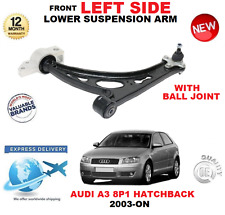 FOR AUDI A3 8P1 2003-> FRONT LOWER LEFT WISHBONE SUSPENSION ARM + BALL JOINT