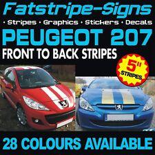 PEUGEOT 207 STRIPES GRAPHICS DECALS STICKERS VINYL GTI PUG 1.6 1.4 VIPER RACING