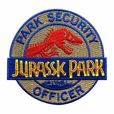 Jurassic Park Ranger Security Officer Costume Hook Fastener Patch (3.0 inch JP1)