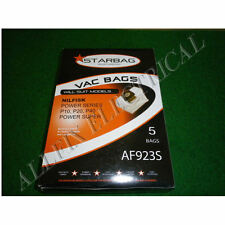 Nilfisk Power Series Synthetic Vacuum Cleaner Bags (Pkt 5) - Part # AF923S