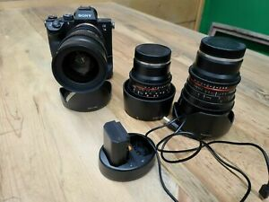 Sony a7 III 24.2MP Mirrorless Digital Camera, 3 lens cine kit